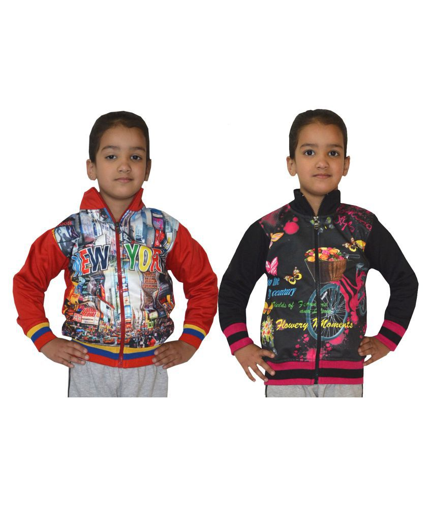 Shaun Multicolour Cotton Sweatshirt- Pack of 2
