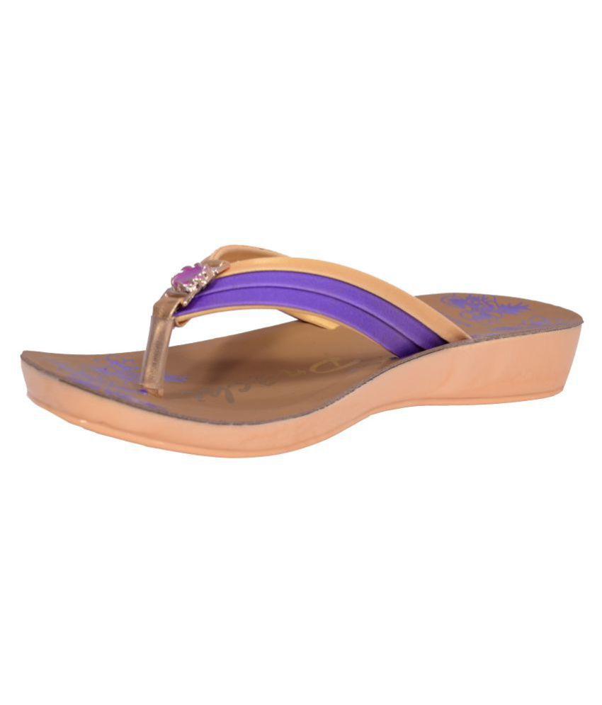 Pu-Prachi Purple Slippers