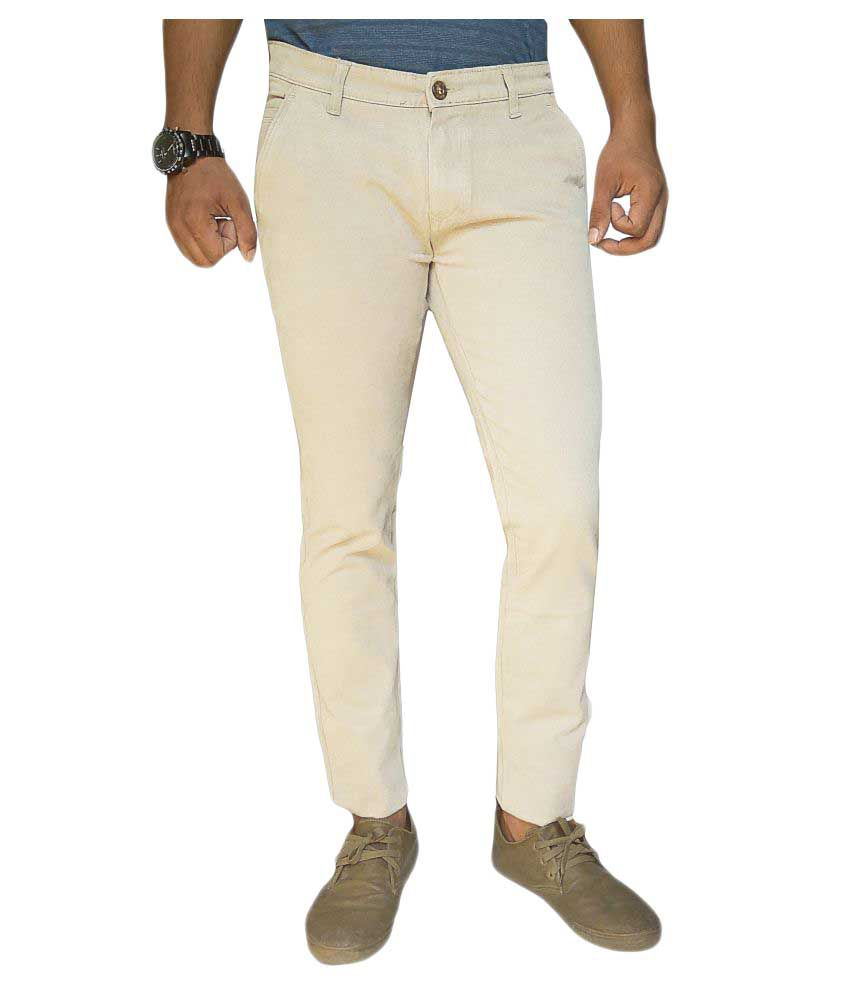Oiin White Slim Flat Trouser