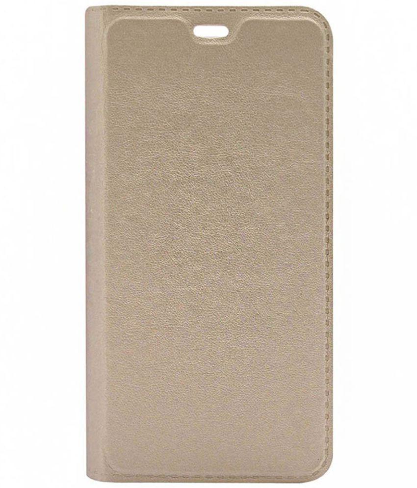 Samsung Galaxy On5 Flip Cover by DDF - Golden