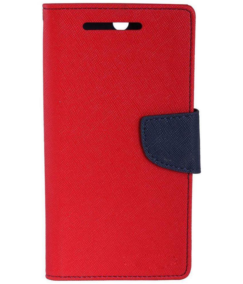 Xiaomi Mi4i MZB4300IN Flip Cover by DDF - Red