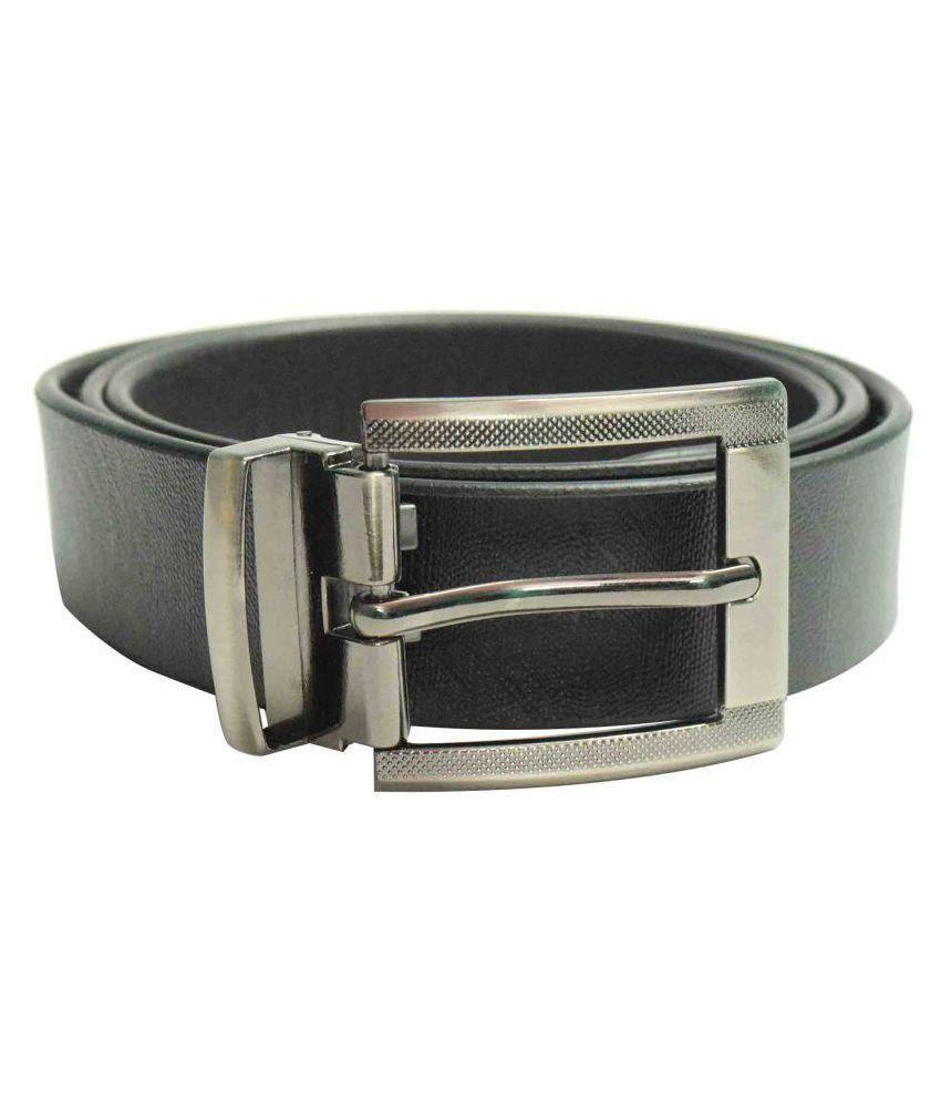 Jalad Black Leather Formal Belts