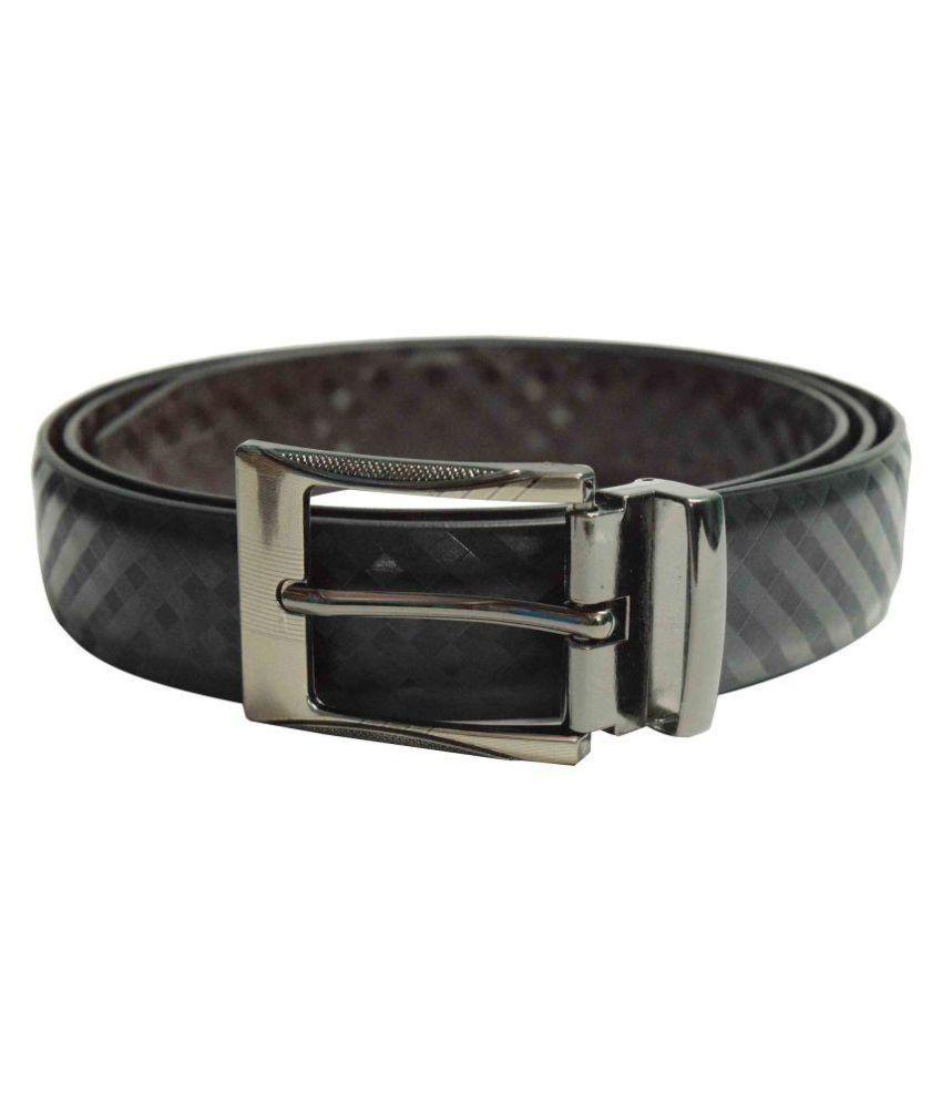 jalad Black PU Formal Belts
