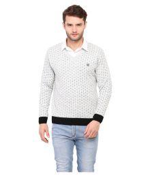 Duke White V Neck Sweater - 644748882897