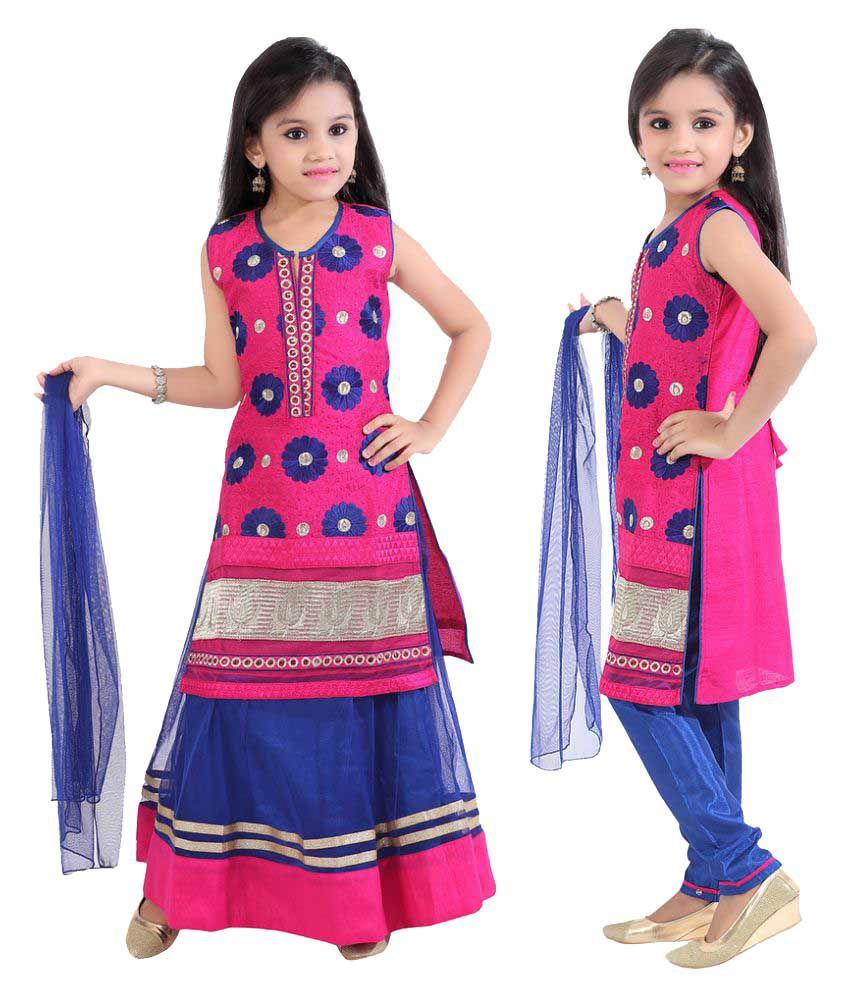1305c799e Jazzup Lehnga-Choli Suit With Churidar For Girls- 3 Piece - Buy Jazzup  Lehnga-Choli Suit With Churidar For Girls- 3 Piece Online at Low Price -  Snapdeal