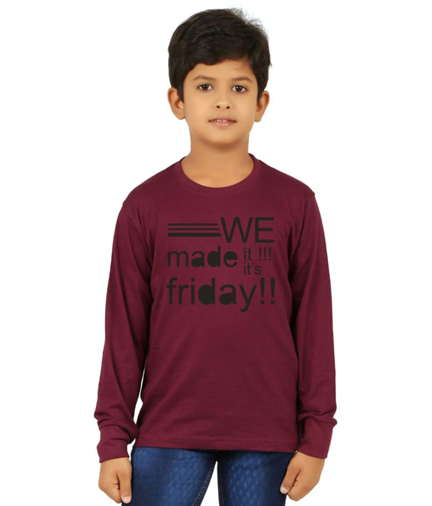 535031fd Clifton Boys Printed Ribbed Maroon Round Neck Full Sleeve T-Shirts - Buy  Clifton Boys Printed Ribbed Maroon Round Neck Full Sleeve T-Shirts Online at  Low ...