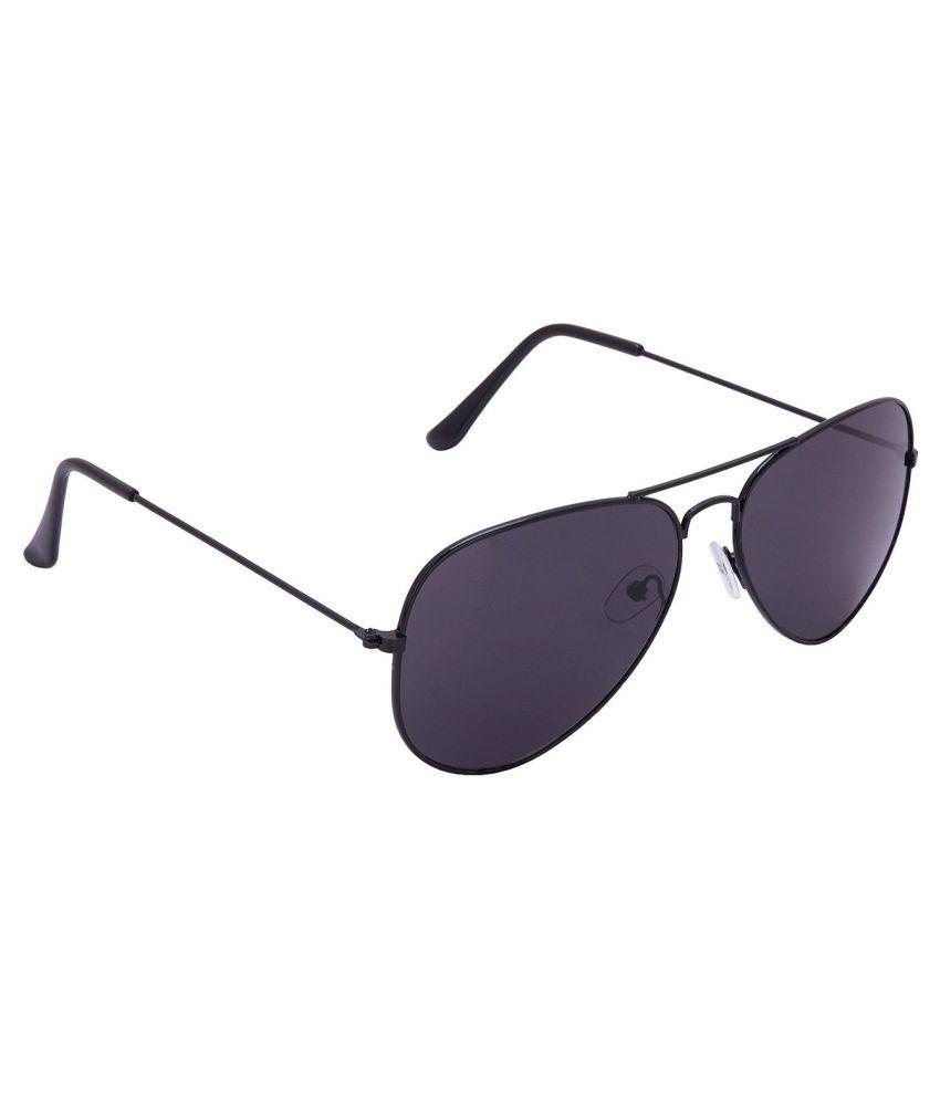 XLNC Black Aviator Sunglasses ( BLKAV01 )