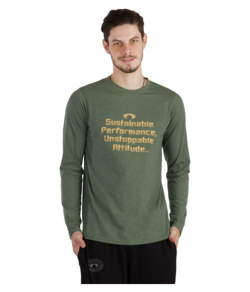 Arcley Green Cotton Blend T-Shirt Single Pack