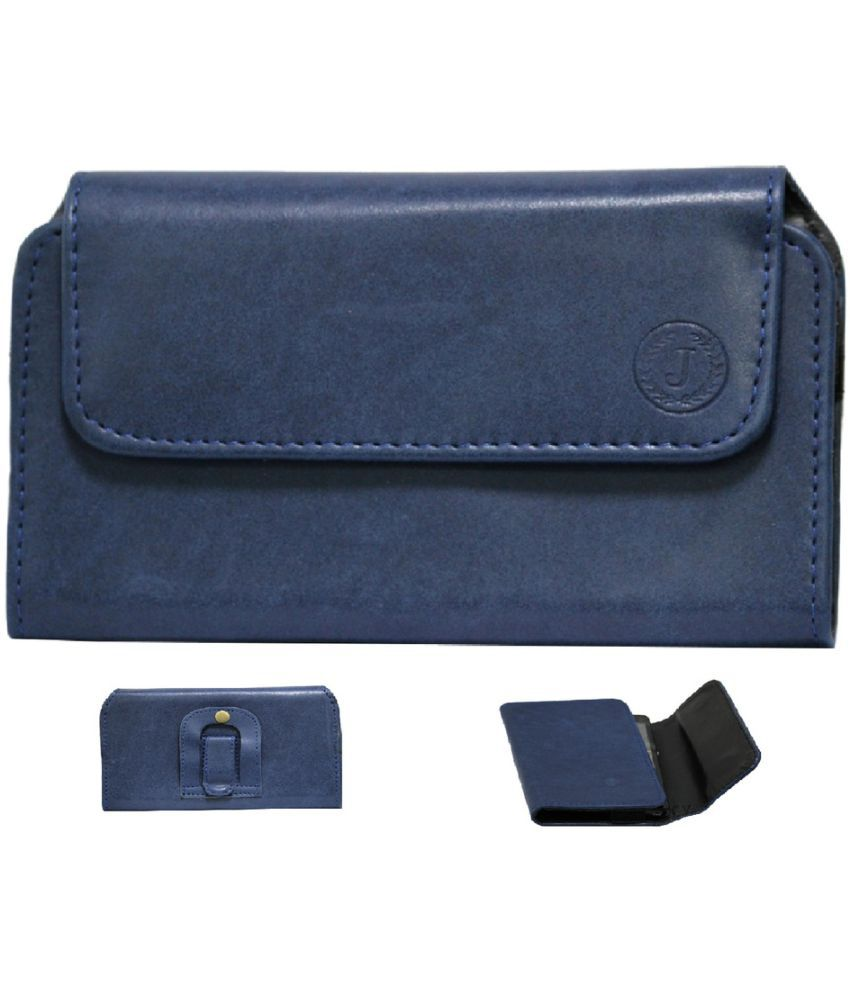 Gionee P5 Mini Holster Cover by Jojo - Blue