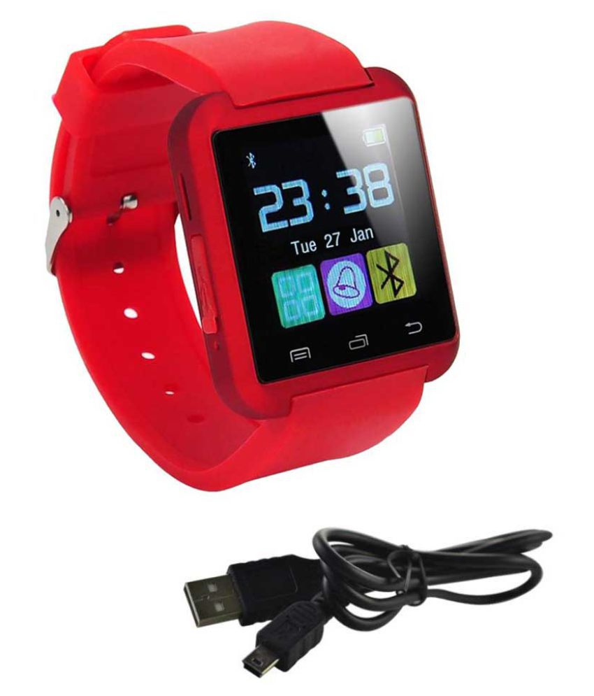 MOBICELL vibe p1m Watch Phones Red