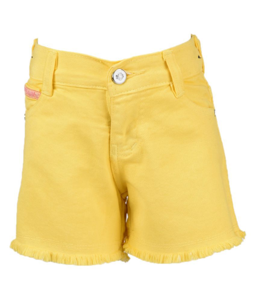MSG Yellow Shorts for Girl's