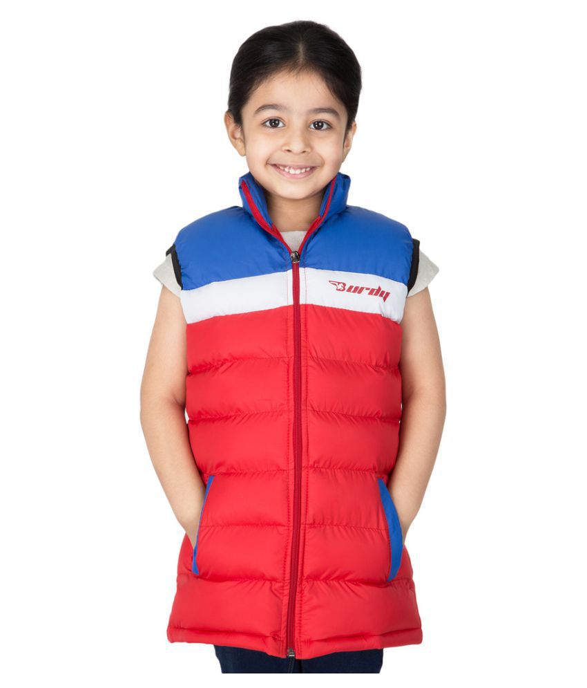 Burdy Multicolor Polyester Quilted And Bomber