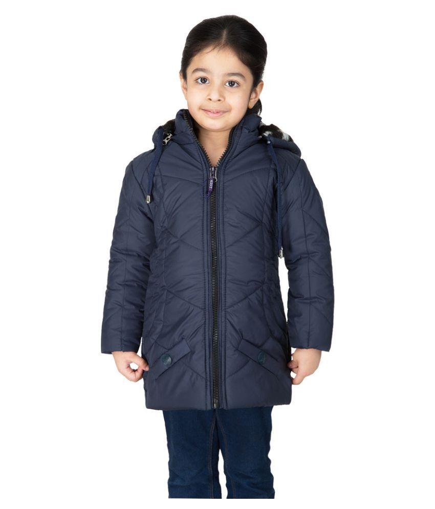 Burdy Navy Blue Polyester Jackets