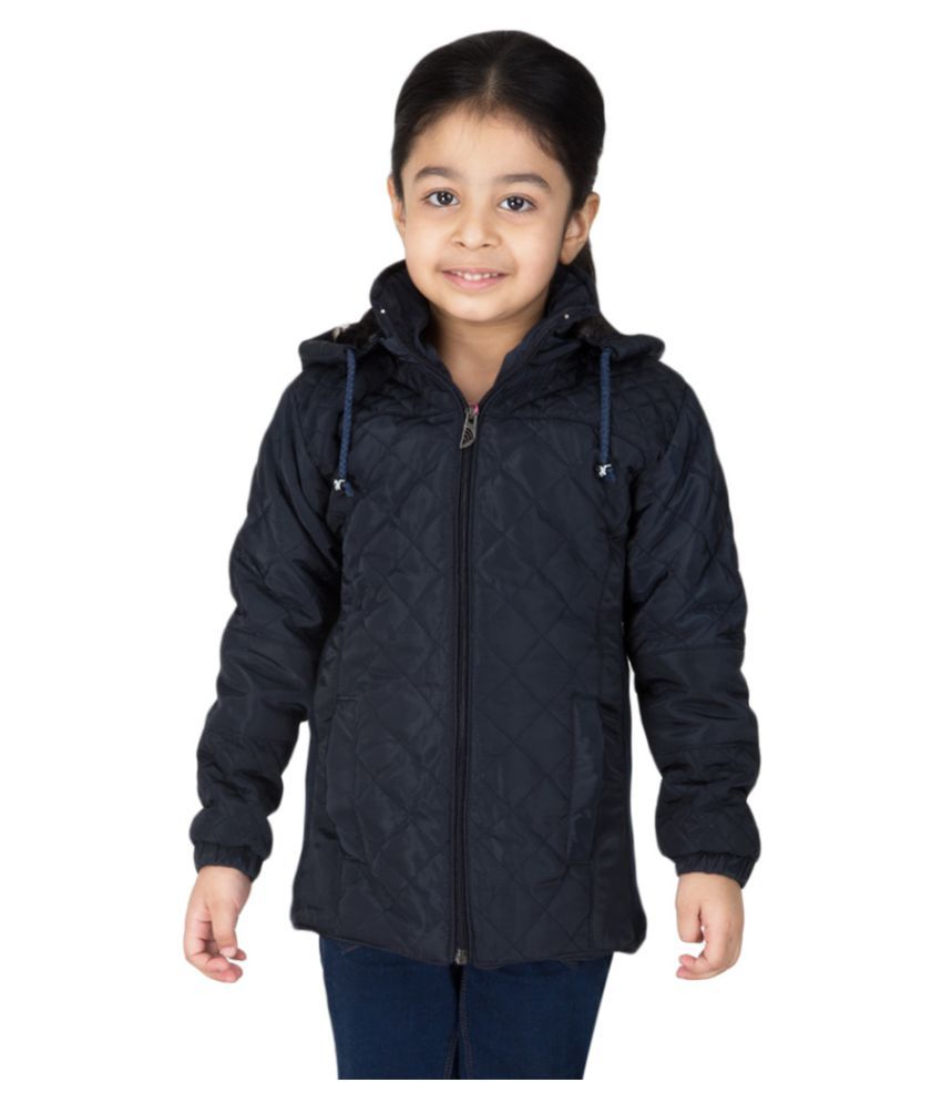 Burdy Navy Blue Quilted & Bomber Jacket