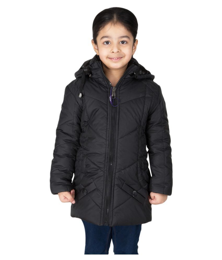Burdy Black Polyester Jacket