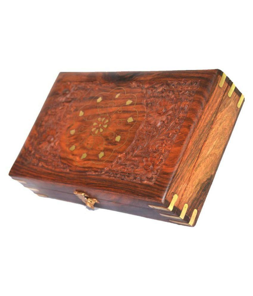 Woodino Brown Wood Jewellrey Box