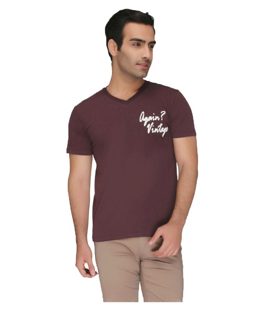 Again? Vintage Brown V-Neck T-Shirt