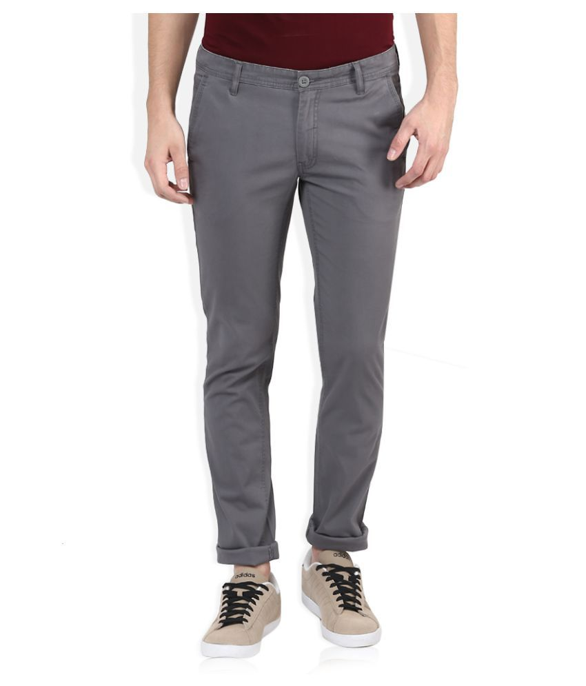 John Players Grey Skinny Flat Trouser