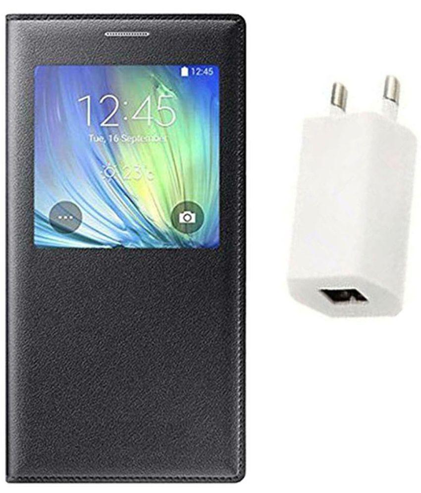 Samsung Galaxy On7 Flip Cover by Gatasmay - Black