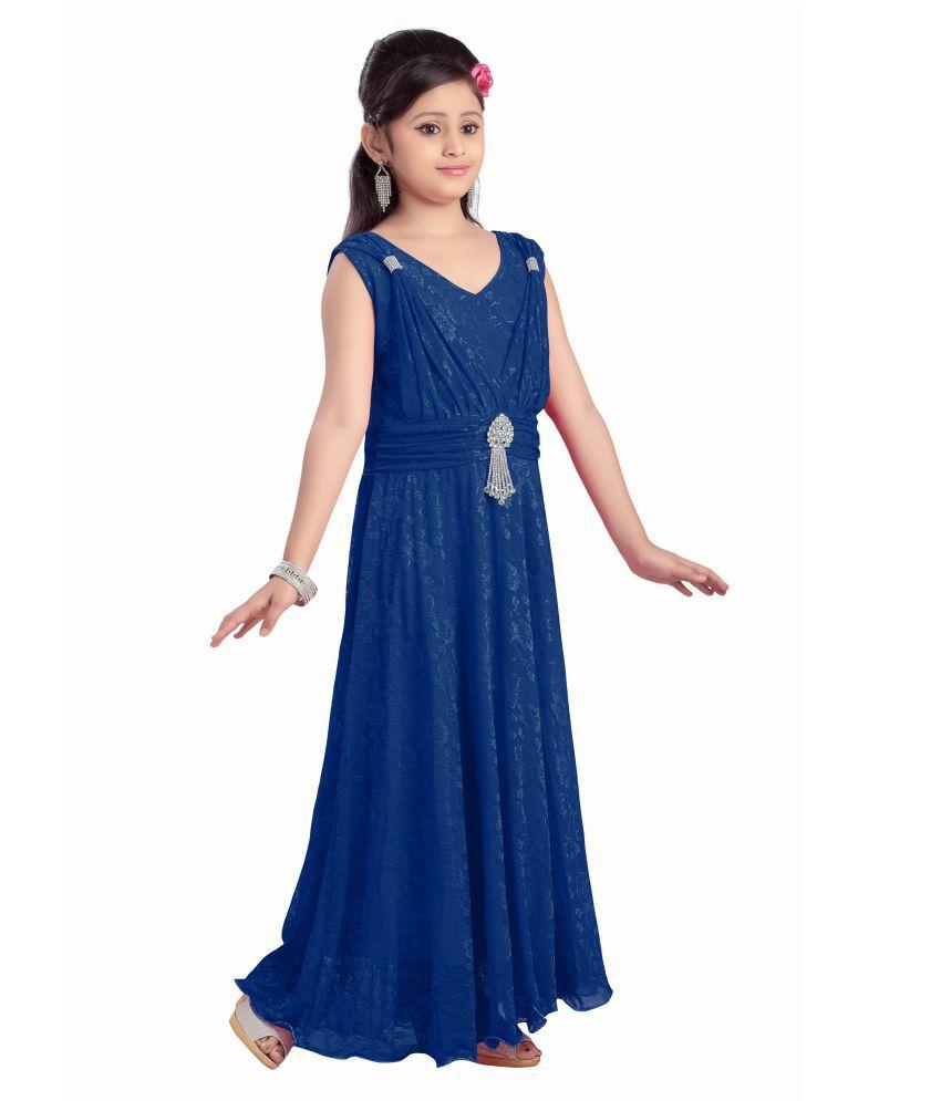 1f95bc3fed Aarika Girl s Self Design Premium Net Party Wear Dress - Buy Aarika ...