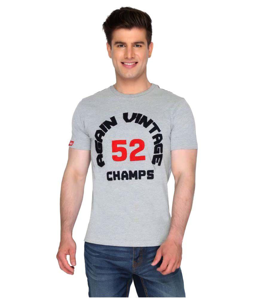 Again? Vintage Grey Round T-Shirt