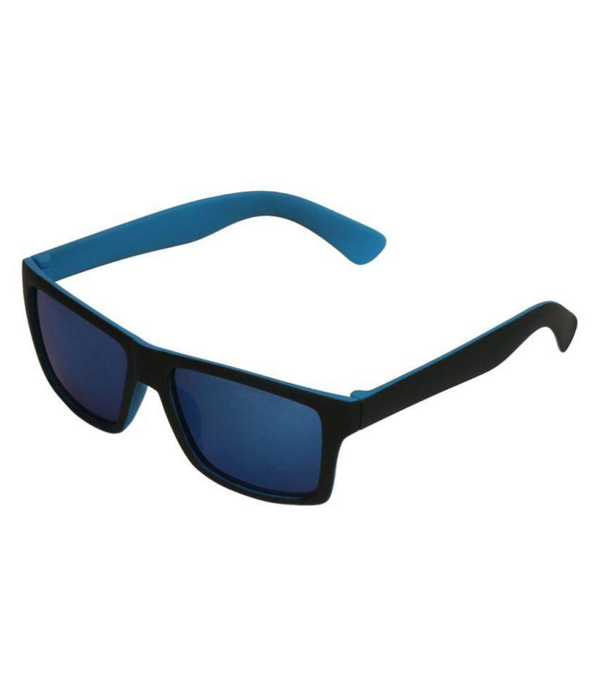Swiss Design Blue Wayfarer Sunglasses ( 39090-BK.LBL )