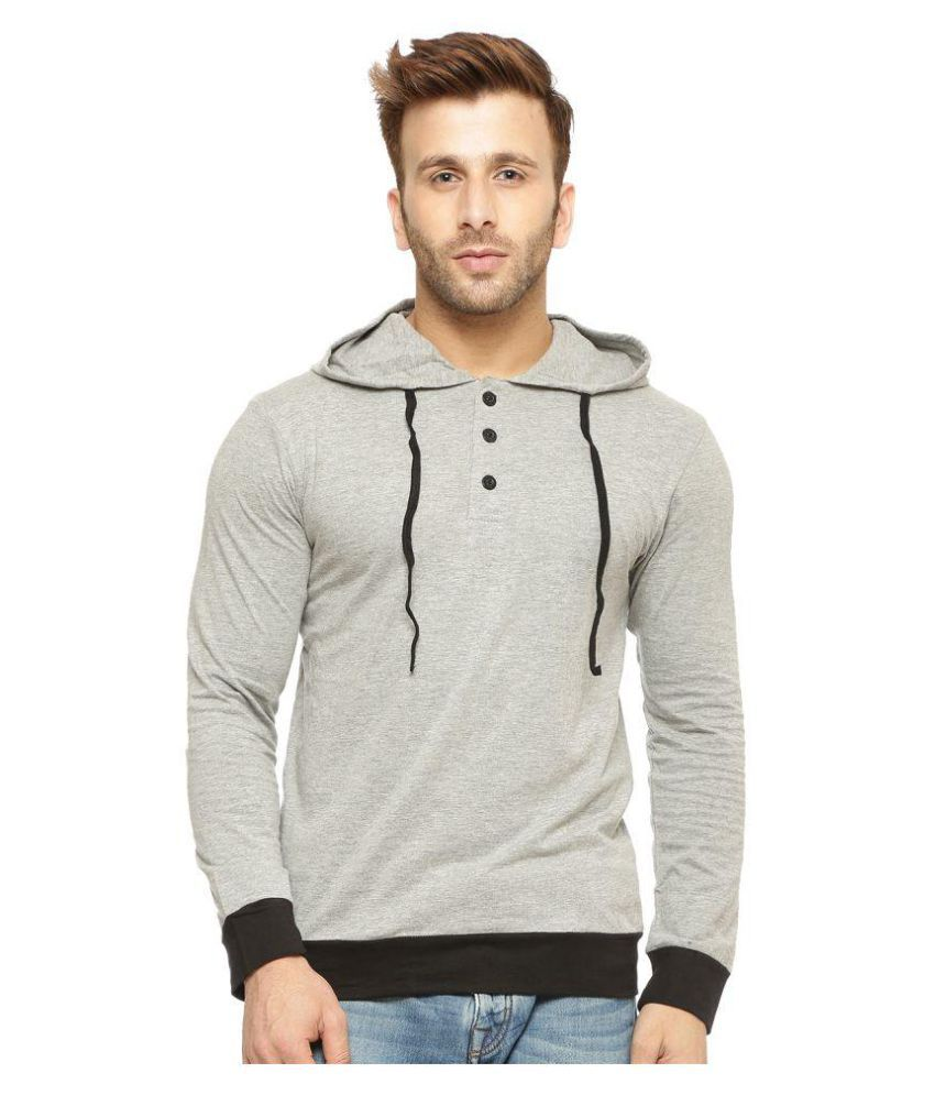 Gritstones Grey Hooded T-Shirt