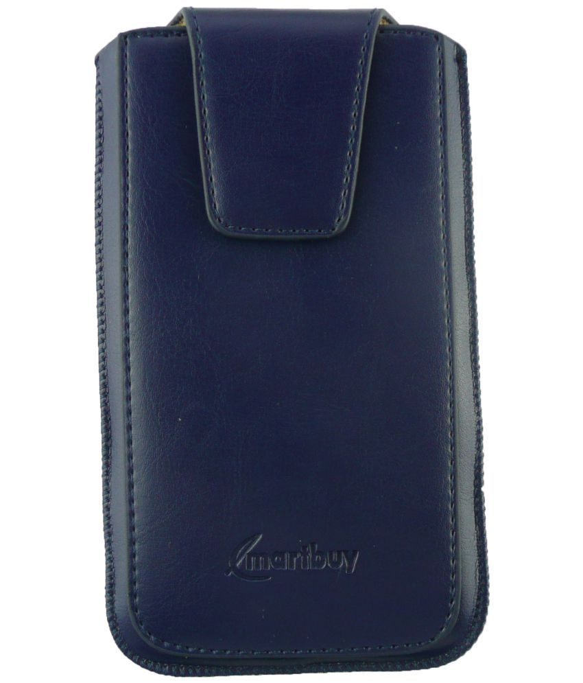 Samsung Galaxy Note 3 neo Flip Cover by Emartbuy - Blue