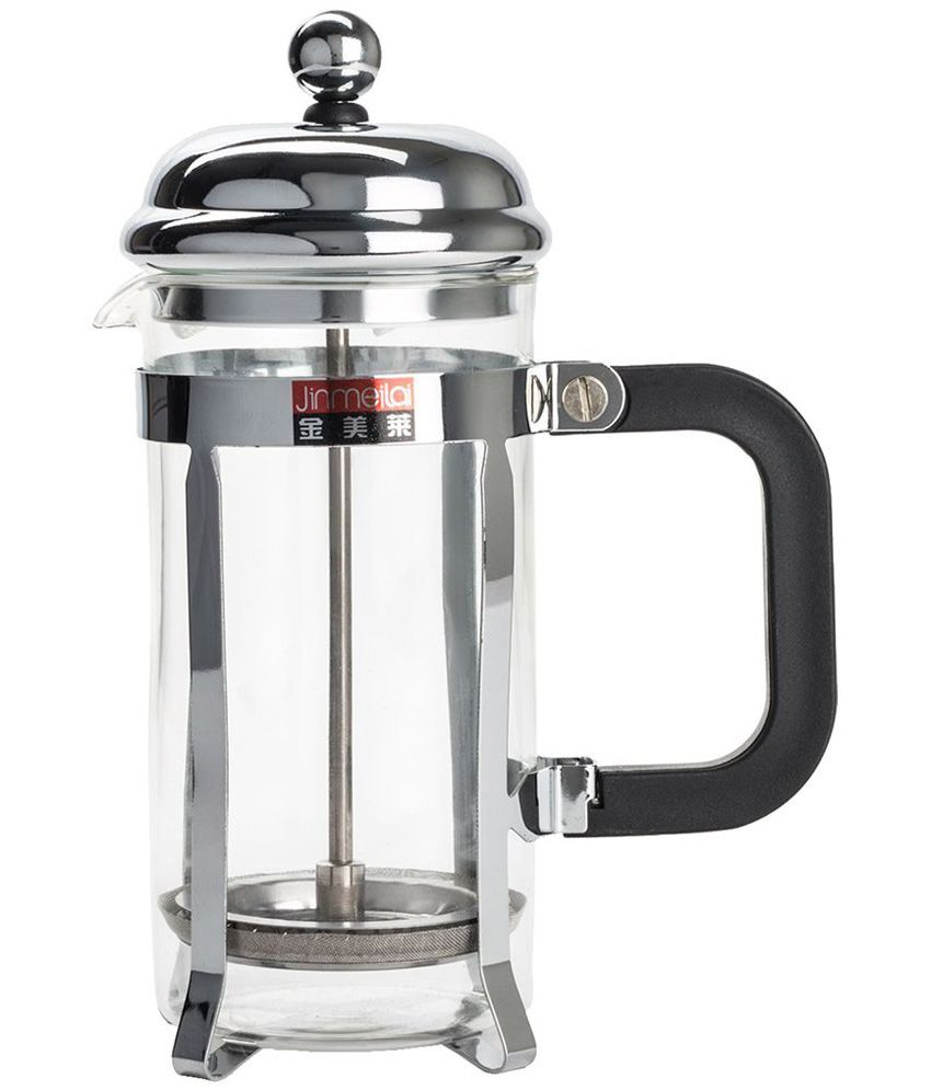 coffee plunger pyrex glass and steel frame coffee french press 350 ml buy online at best. Black Bedroom Furniture Sets. Home Design Ideas