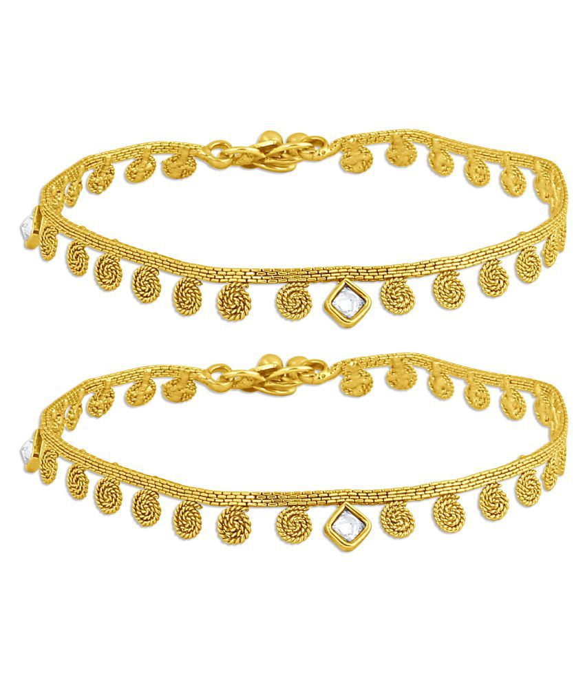 Inaya Golden Anklets - 1 Pair