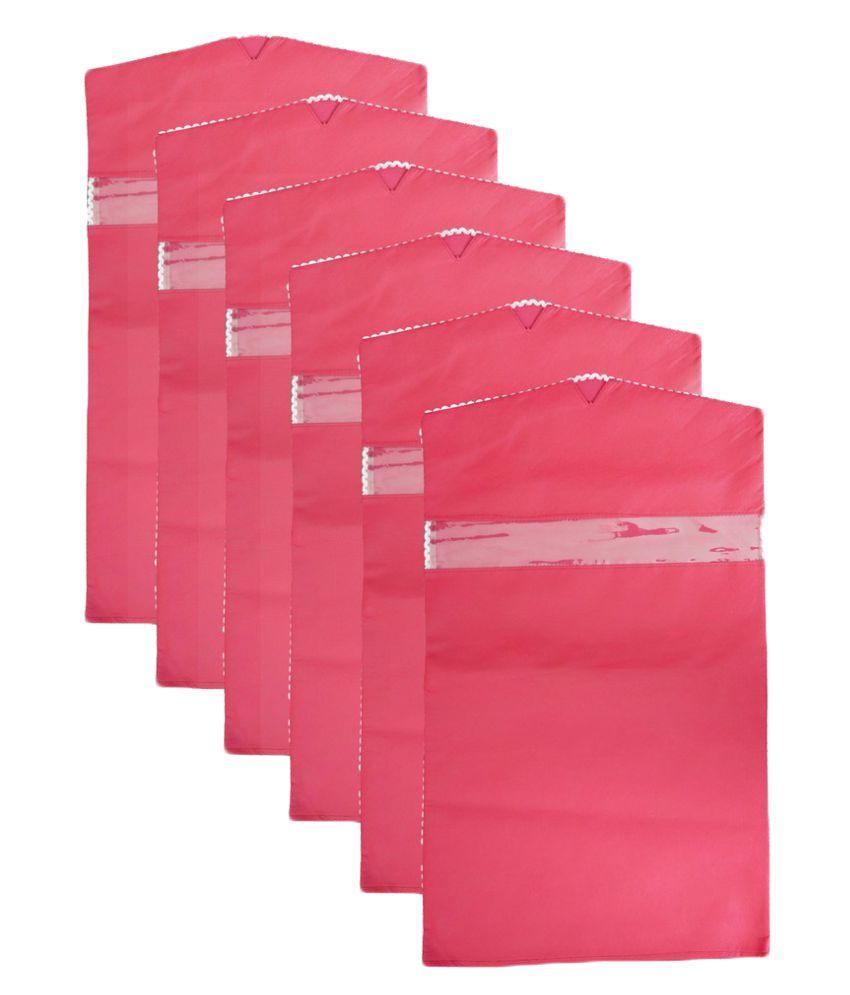SuiDhaga Pink Saree Covers - 6 Pcs