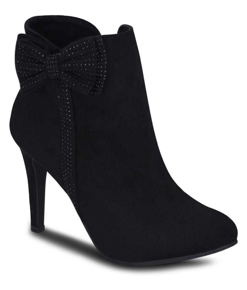109a3d4c14dee Get Glamr Black Ankle Length Bootie Boots Price in India- Buy Get Glamr Black  Ankle Length Bootie Boots Online at Snapdeal