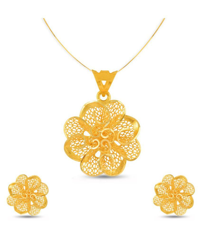 4cb7f63477df5 P.N.Gadgil Jewellers 22k BIS Hallmarked Yellow Gold Necklace Set
