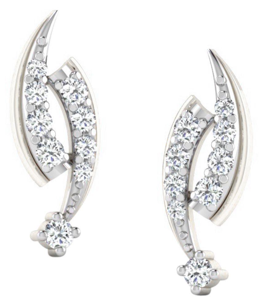 Sparkles 9K White Gold Diamond Studs