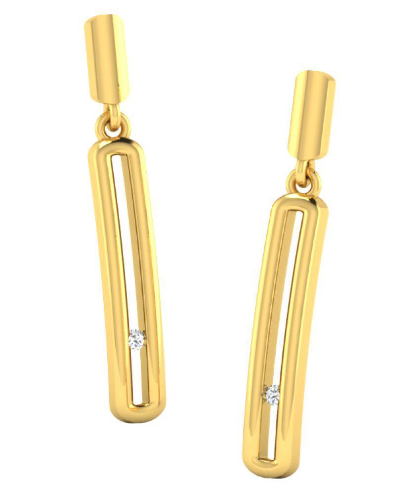 Sparkles 9K Yellow Gold Diamond Drop Earrings