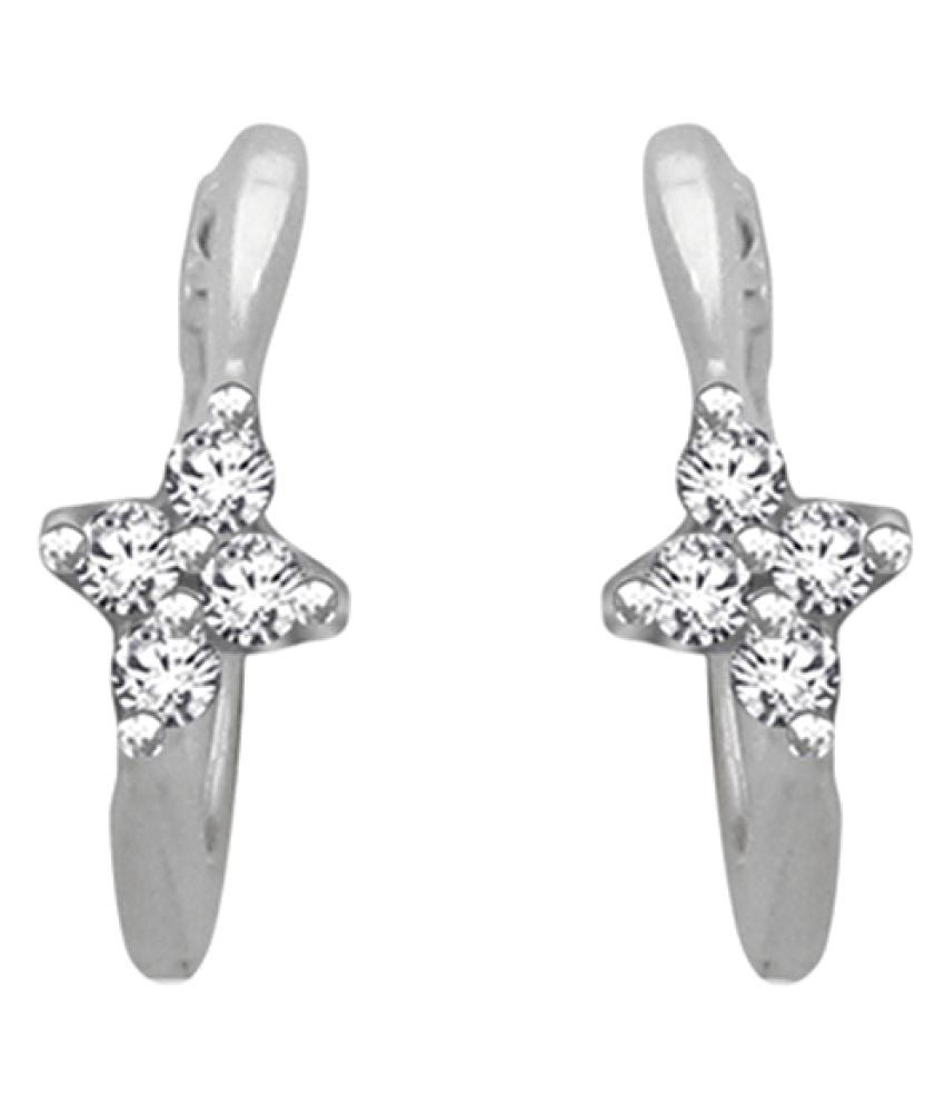 Sparkles 18K White Gold Diamond Studs