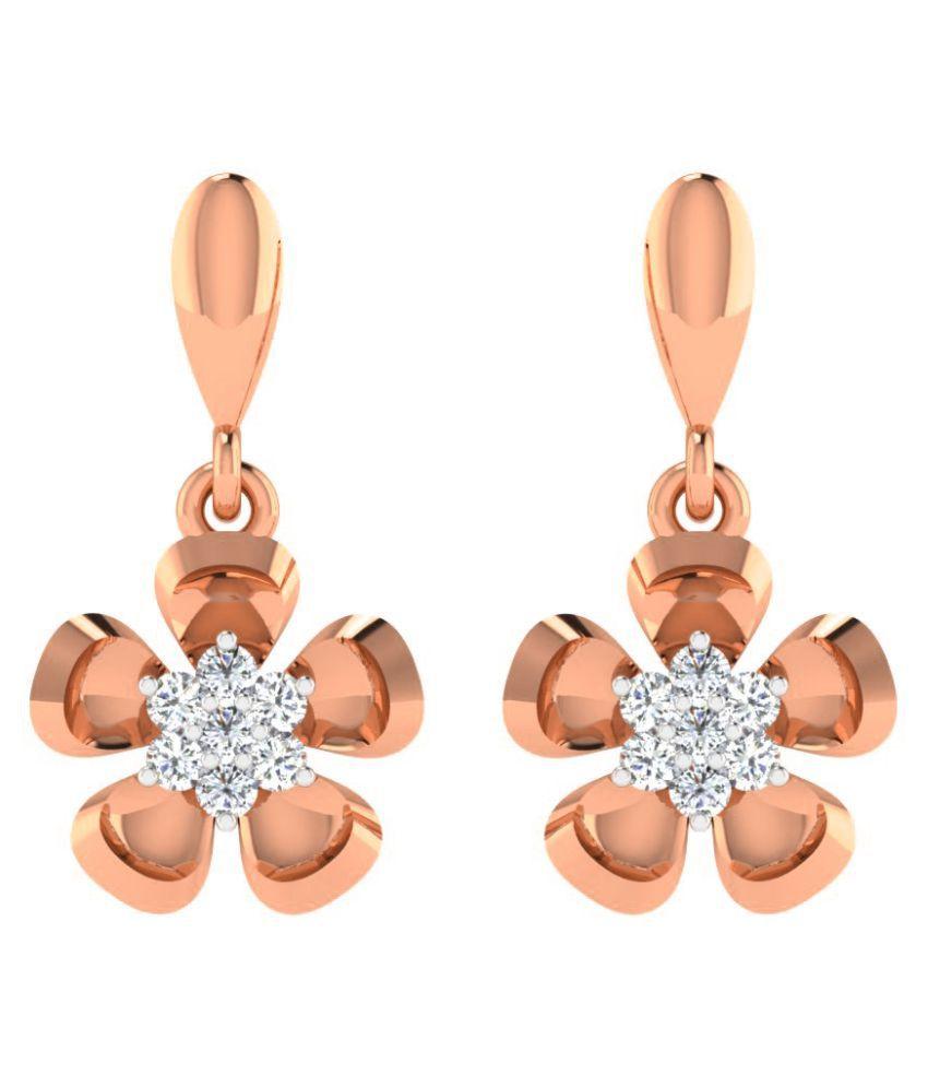 Sparkles 18K Rose Gold Diamond Hangings