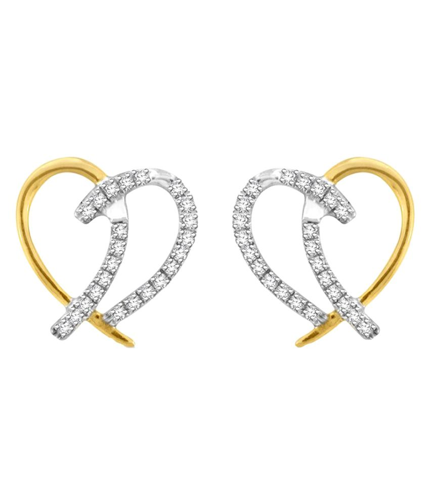 Sparkles 18K Yellow Gold Diamond Hoop