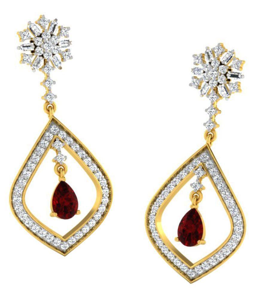 Sparkles 9K Yellow Gold Diamond Hangings