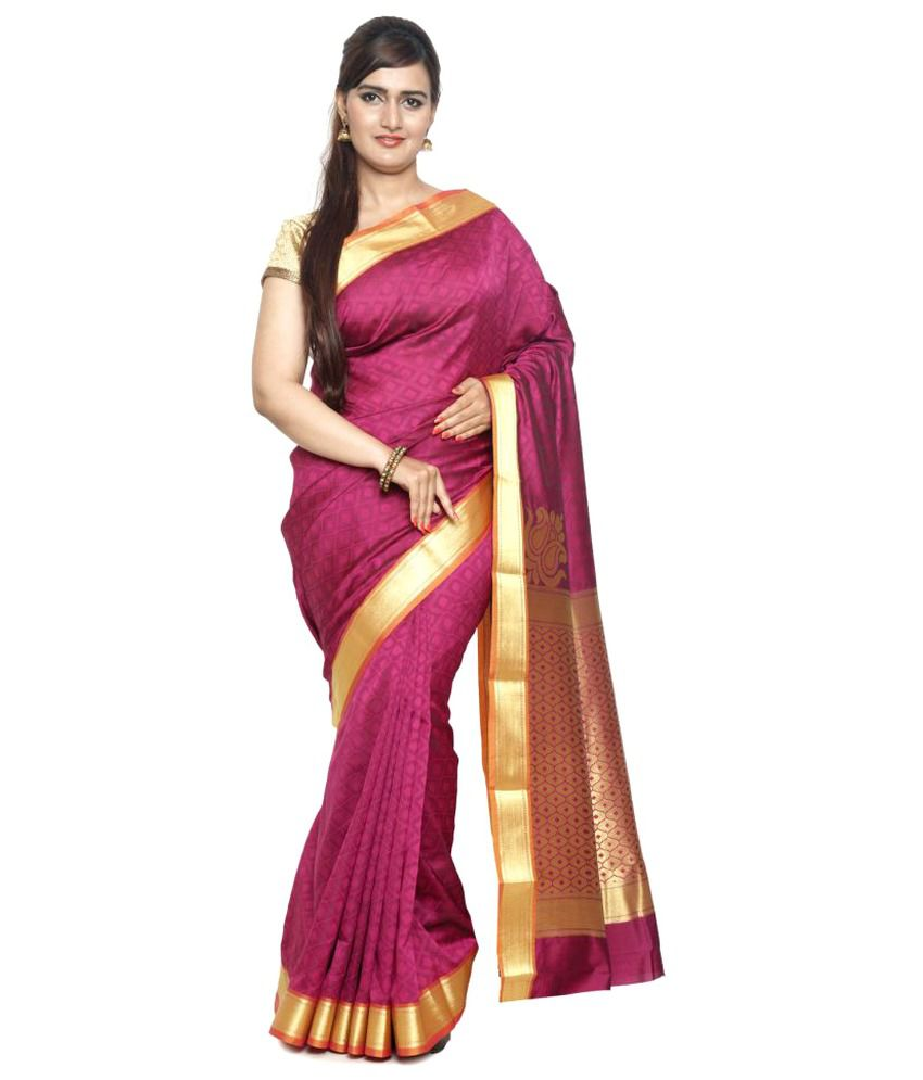 Sudarshan Silks Pink Art Silk Saree