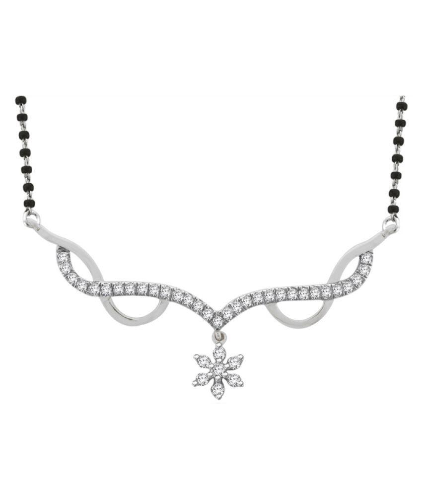 Sparkles 9K White Gold Necklace