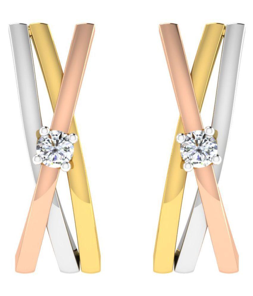 His & Her 18K White Gold Diamond Studs