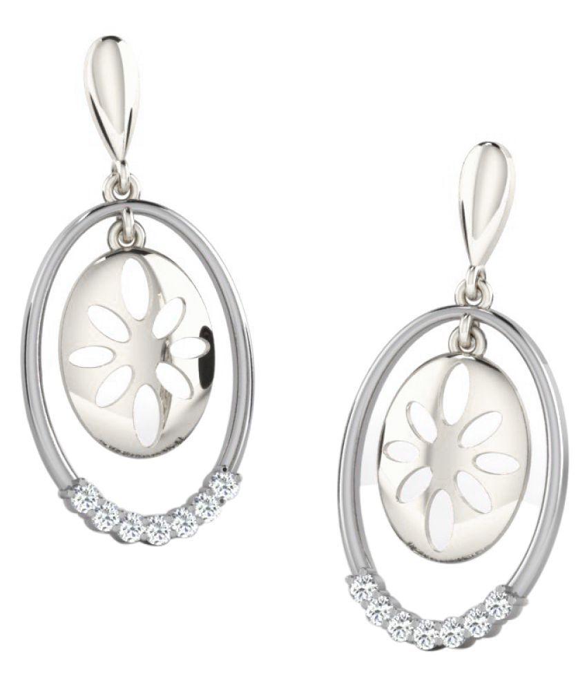 His & Her 18K White Gold Diamond Hangings