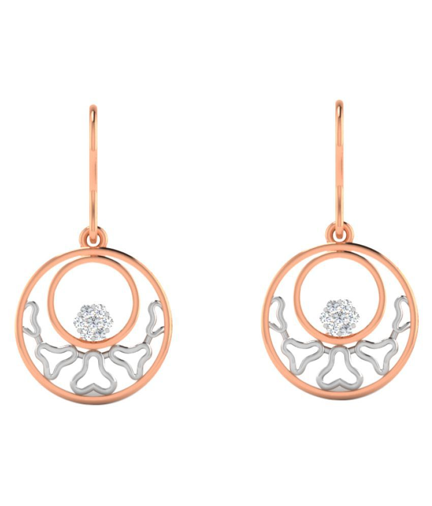 His & Her 18K Rose Gold Diamond Hangings