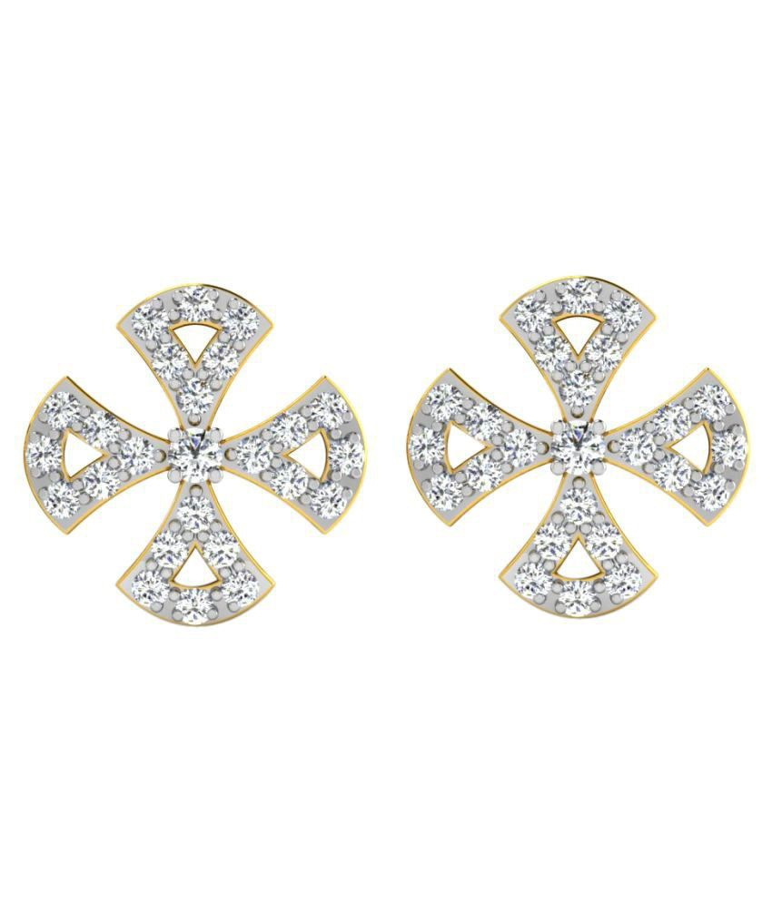 His & Her 9K Yellow Gold Diamond Studs