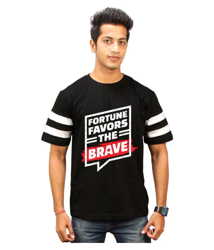 High Five Clothing Black Round T-Shirt