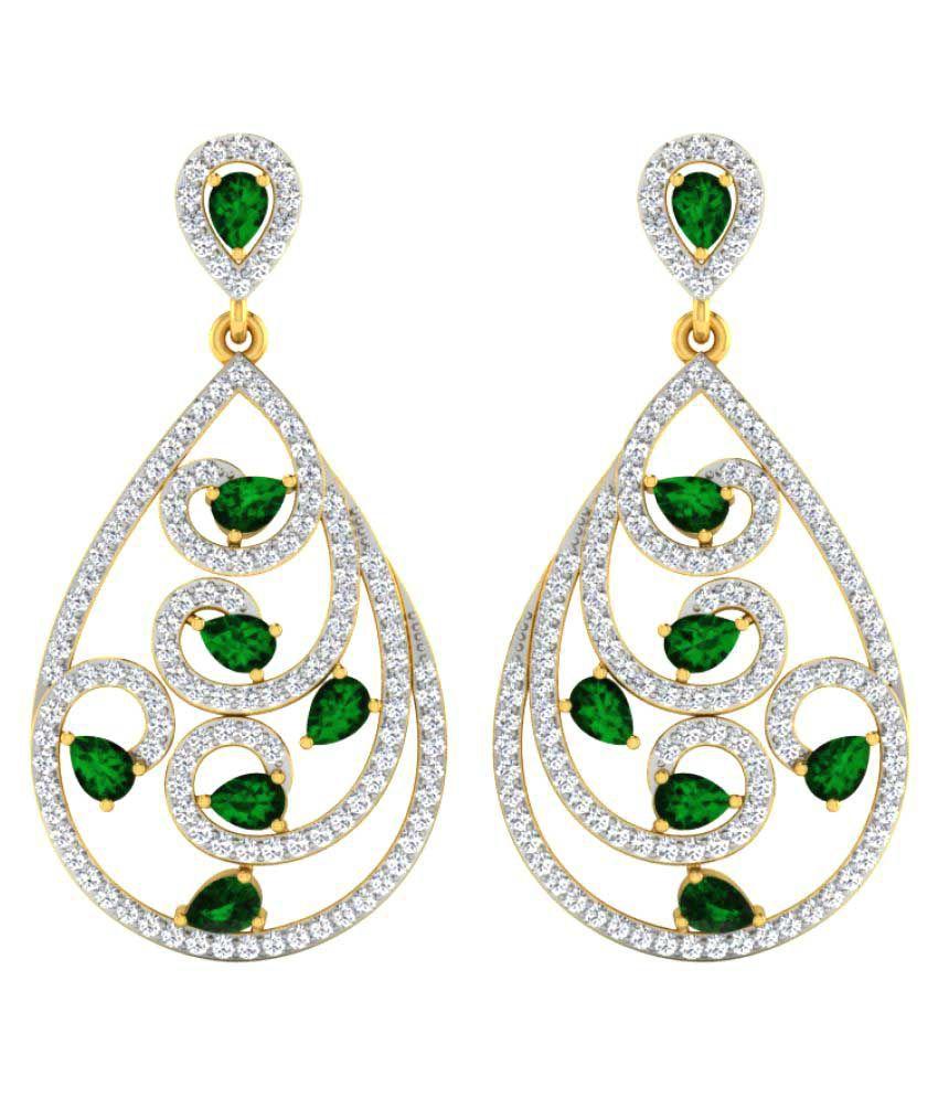 His & Her 18K Yellow Gold Diamond Hangings