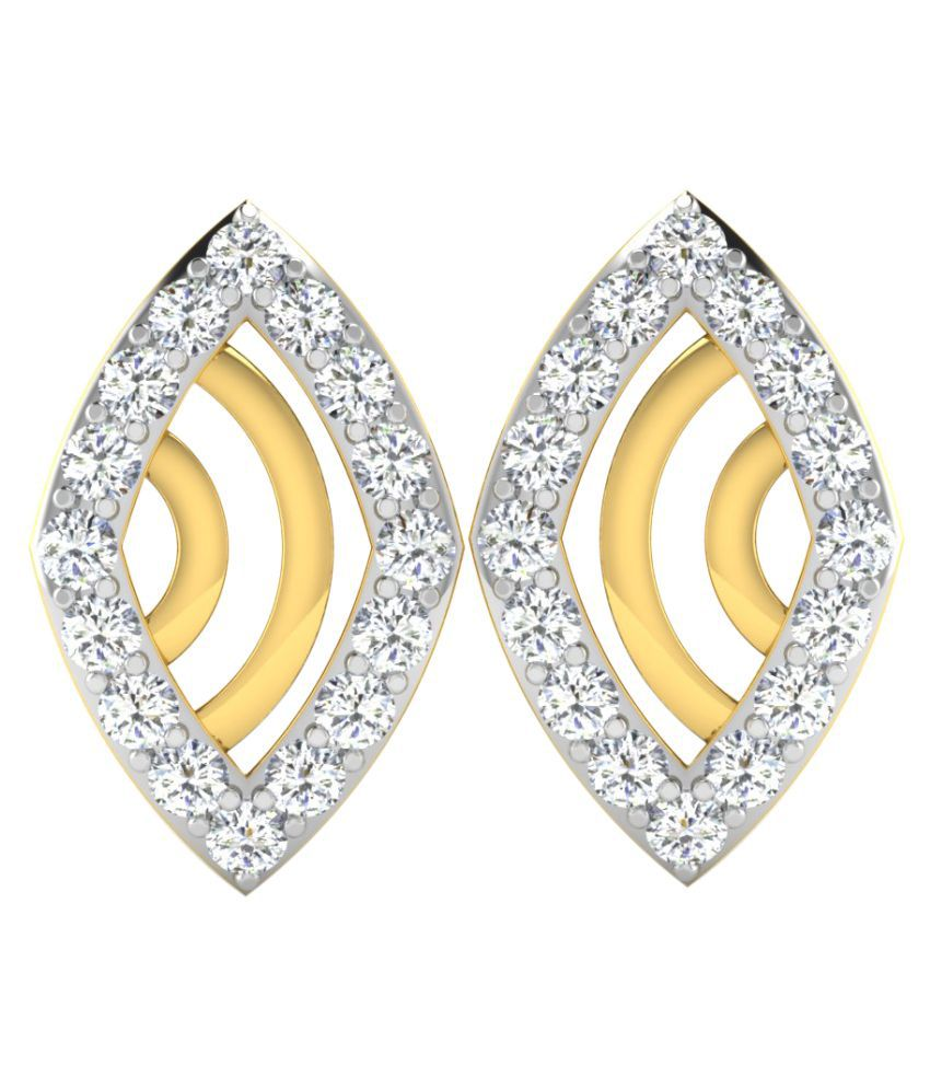 His & Her 18K Yellow Gold Diamond Studs