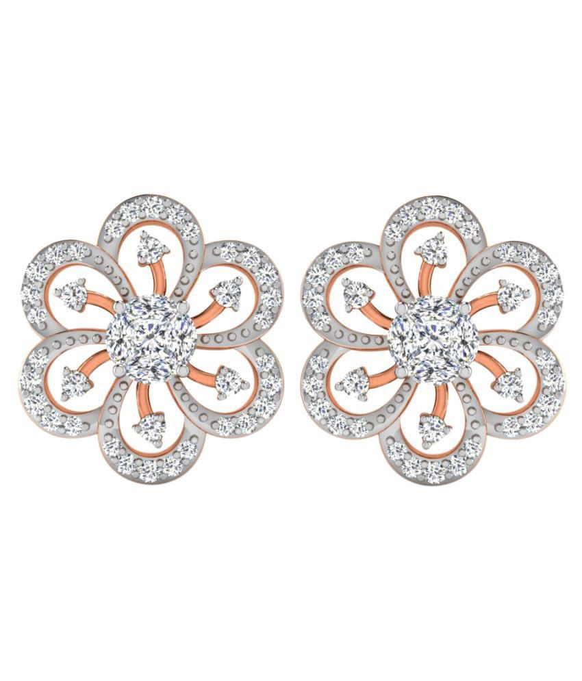 His & Her 9K Rose Gold Diamond Studs