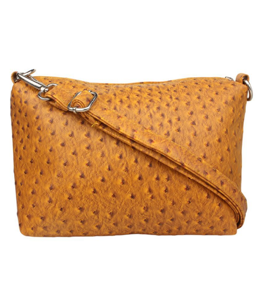 Karry Onn Yellow Faux Leather Sling Bag